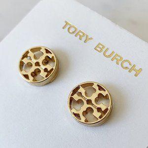 Tory Burch-gold signature earrings
